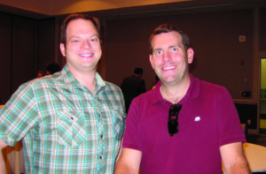 Photo taken at conference of Ted Tollefson and Matt Gunn