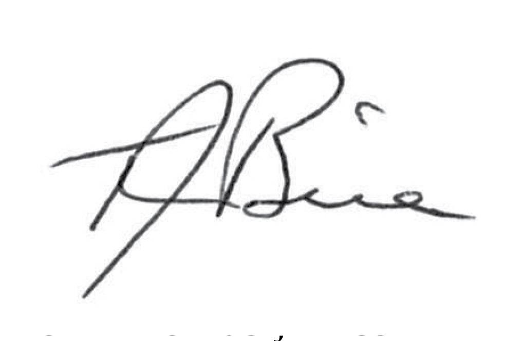Signature of Hon. Thomas J. Bice