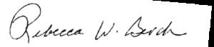 Rebecca Berch Signature
