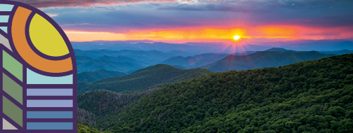 Photo of sun over mountains