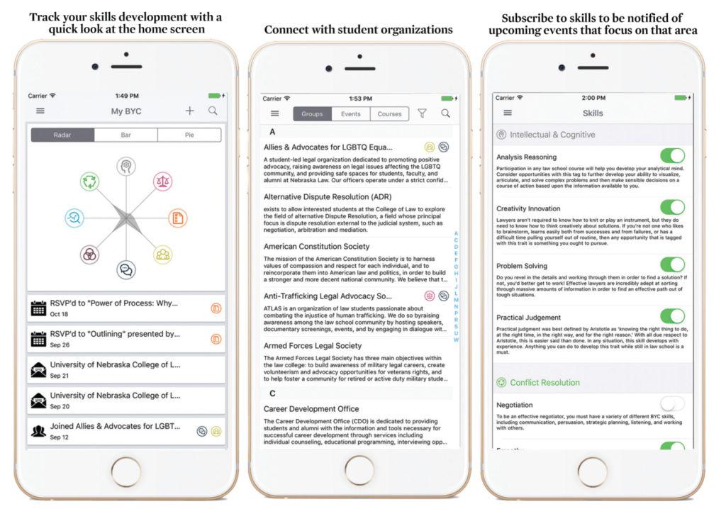 screen shots of mobile app