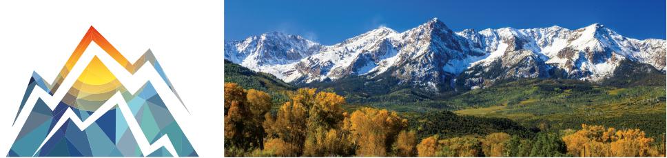 CBAA Fall Meeting logo and photo of mountains