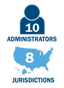 10 administrators attended, representing 8 jurisdictions