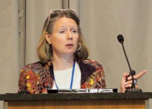 Sonja Olson, NCBE speaking at the podium