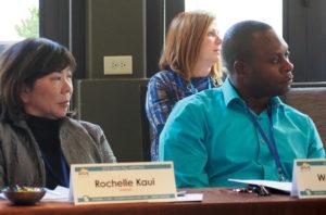 Rochelle Kaui (HI), Wadner Oge (MA) Back row: Tina Hopson (IN)