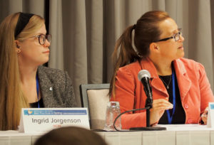Ingrid Jorgenson, Beth Hill (both NCBE) speaking at the conference