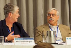 Marilyn Wellington (MA), Doug Ripkey (NCBE) speaking at the conference