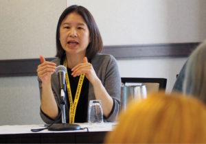 Nina Chang speaking at the Workshop