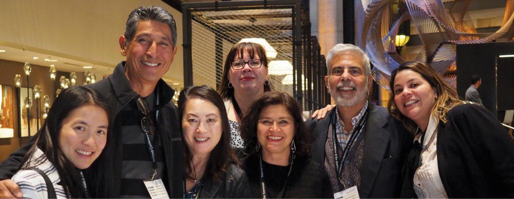 Photo taken at conference Esther Lin, Mark Torres-Gil, Lisa Cummins, Tammy Campbell, Natalie Leonard, Larry Kaplan, Amy Nuñez (all CA)