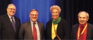 Photo taken at conference of Barry Currier, James Leipold, Camille deJorna, Mark Albanese, Ph.D. (NCBE)