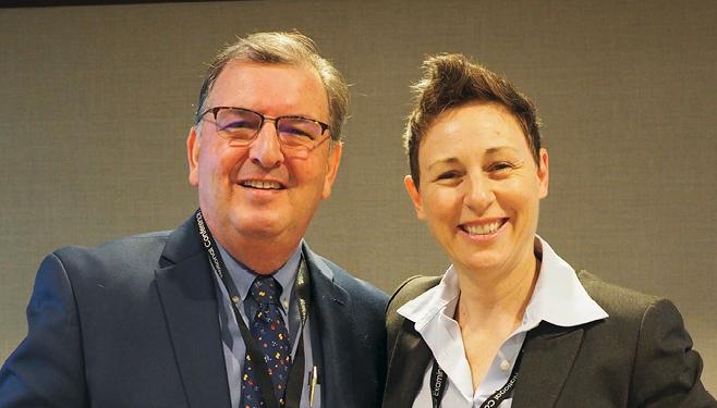Photo taken at conference Hon. Thomas Durkin (VT), Jill Thomas (not shown: Link Christin)