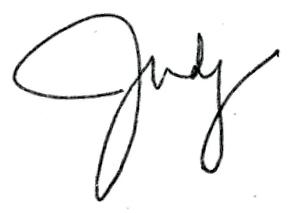 Signature of Judith A. Gundersen