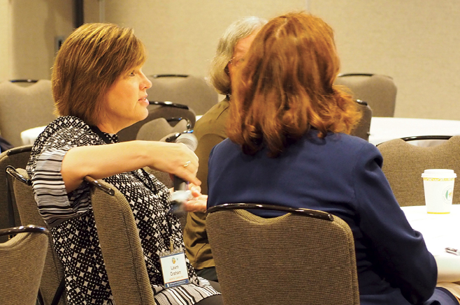 Photo taken at conference of Testing Task Force focus group attendees