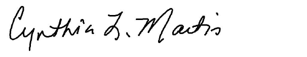Signature of Hon. Cynthia L. Martin