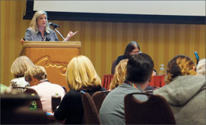 Photo taken at conference of Angela Adams