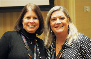 Photo taken at conference of Michele Gavagni and Angela Adams
