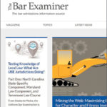 The Bar Examiner Magazine Cover, Fall 2019, Vol. 88, Issue 3. Cover image features the lead article about Mining The Web Maximizing Internet Tools for Character and Fitness Investigations