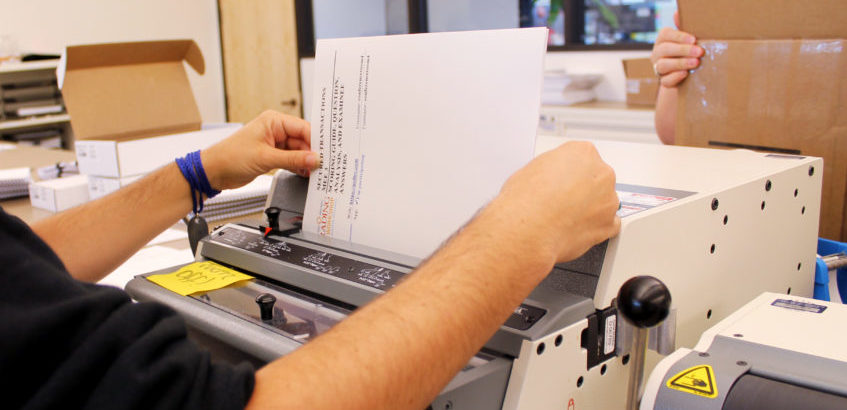 Photo of Making the Testing Booklets