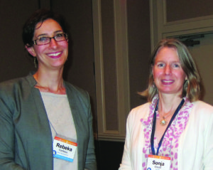Photo taken at conference of Rebeka Fortess and Sonja Olson