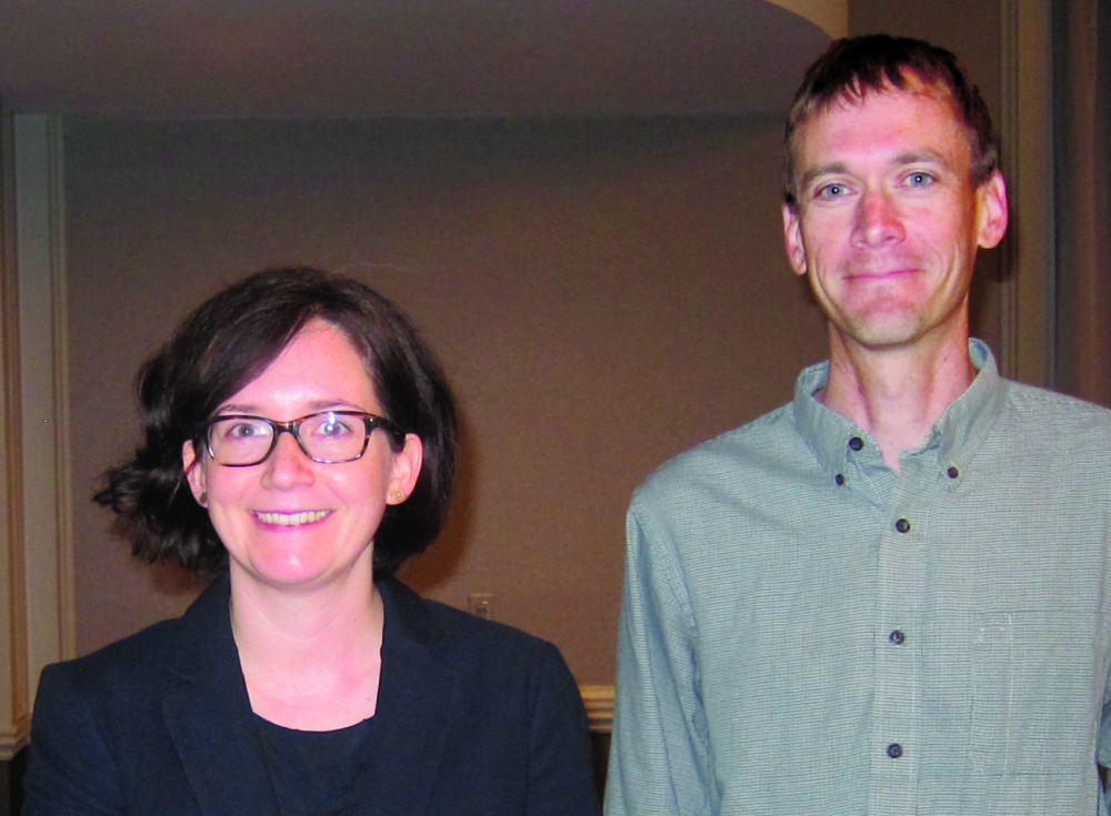 Photo taken at conference of Joanne Kane and Andy Mroch