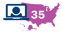 35 jurisdictions decided to administer remote exams
